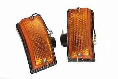 New Front Blinker Indicator Amber Set For Vespa PX PX80-200 PE Lusso T5 Stella