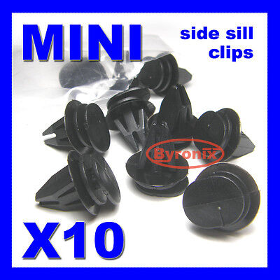 Bmw Mini Side Sill Skirt Trim Clips Fasteners Black R50 R53 R56 R57 R58