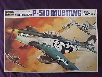 Vintage Hasegawa Minicraft  North American P-51D Mustang (Scarce)  1/32