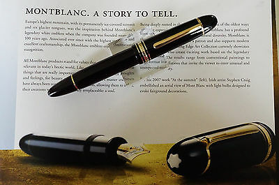 Vintage MONTBLANC 149 Fountain pen - around 1985 -  14 K B Nib  - Pristine