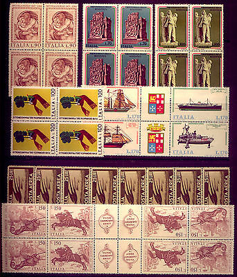 ITALY: GREAT   BLOCKS of STAMPS in   MINT CONDITION   LOW   RESERVE