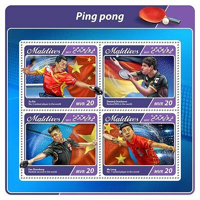 MALDIVES 2017 ** Ping Pong Player Table Tennis Tischtennis M/S IMP #508aB
