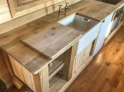 Solid Oak kitchen Units And worktop