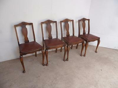 A Quality Original Set of 4 Early Ercol Beech Kitchen/Dining Chairs