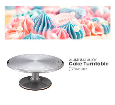12 Inch Cake Making Turntable Aluminum Steel Rotating Decorating Platform Stand