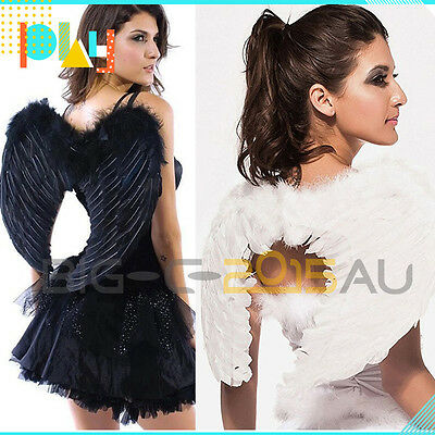 White/Black Angel feather wings Festival Cosplay Costume Accessories AU Post