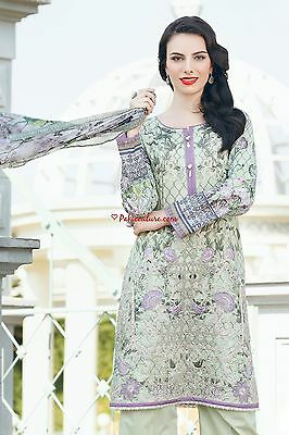 New Stitched Original Baroque Embroidered Luxury Lawn Suit Chiffon Dupatta