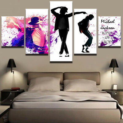 Framed Home Decor Canvas Print Painting Wall Art Michael Jackson The King of Pop