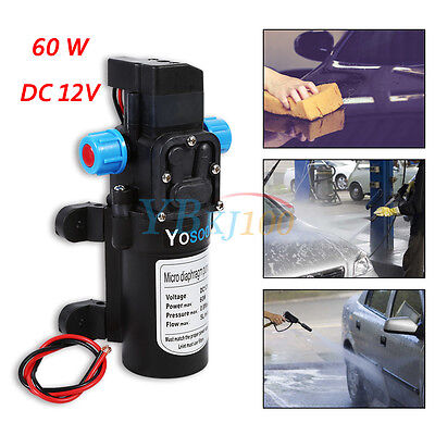 60W DC 12V High Pressure Micro Diaphragm Self Priming Water Pump for Garden Boat