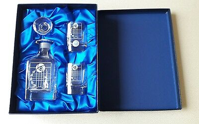 caledonian crystal decanter and glasses set
