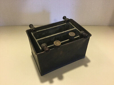 Vintage Antique Trough Battery Cell Voltaic Pile, Early 1800's