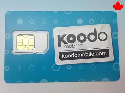 New POSTPAID ONLY Koodo Micro Sim Card 3G 4G LTE Ready to Activate