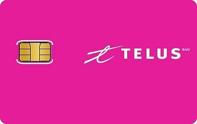 New Telus NANO Sim Card 3G 4G LTE prepaid postpaid Ready to Activate