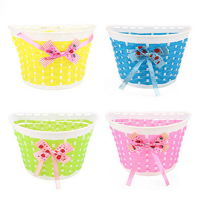 Outdoor Bicycle Panniers Bike Cycle Bowknot Front Basket For Children Girl
