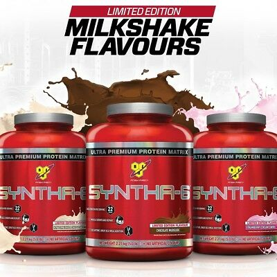 BSN Syntha 6 Whey Protein Powder 2.27kg Premium Protein Choco Vanilla Strawberry