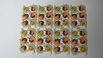 Paper Scraps Mamelok MLP 853 Angels Small Sheet in Great Condition Glanzbilder