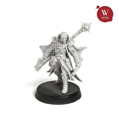 "28mm wargame and collectible miniature, Inquisitor Gregor by ""W"" Artel"