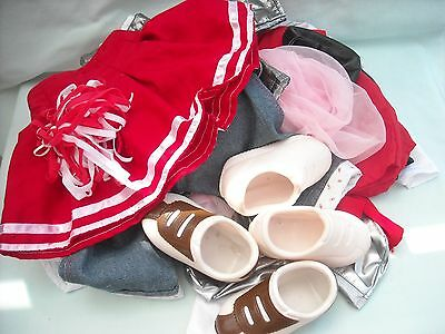 """Smoby 24"""" Toddler Dolls Clothes & Shoes Bundle, Rosie, Roxanne, Roby & Rio"""