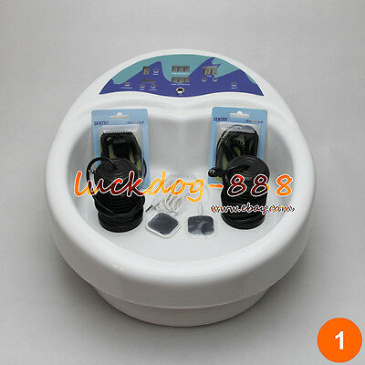 New Foot Detox Machine Ion Foot Bath Spa Cell Cleanse Tub LCD + 2 Arrays + Pads