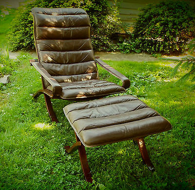"Vintage Mid Century Modern...Lounge Chair and Ottoman...1968 Westnofa ""FLEX"""