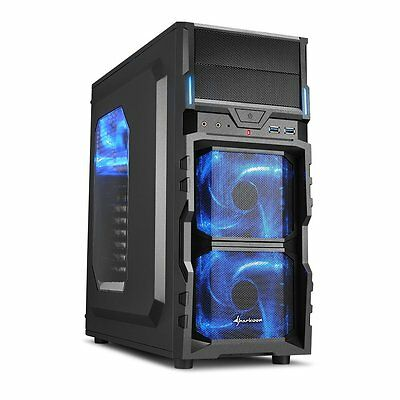 Sharkoon VG5-W ATX Computer Case with Large Acrylic Side Window and 120 mm LED -