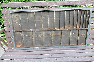 Vintage Wooden Printing Tray Drawer Shadow Box - Large Sections Great for Pics!
