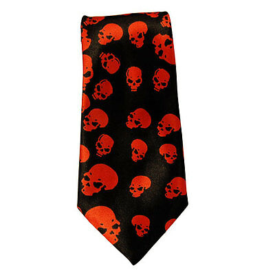 Baby Toddler Satin Ties Red Skull Print  Elastic Tie up to 6 years