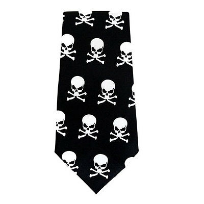 Baby Toddler Satin Ties Skull & Crossbones  Elastic Tie up to 6 years