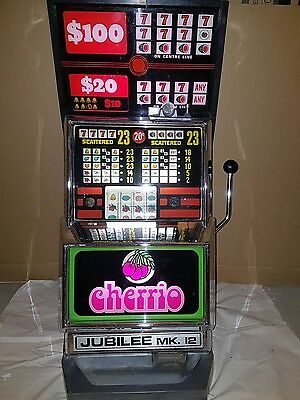 Old school 1 arm bandit jubilee cherrio. CAN NOT BE USED FOR GAMBLING PURPOSES.