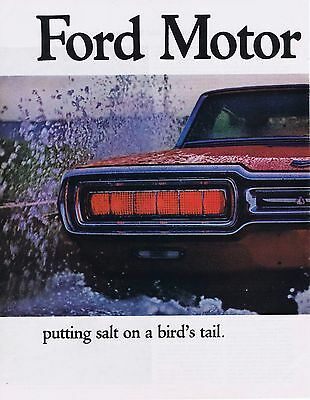 1965 Advertisement - FORD THUNDERBIRD - LARGE 2 PAGE AD