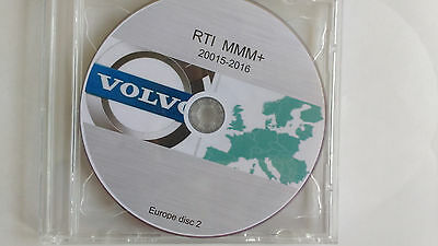 VOLVO RTI MMM+  Europe HDD Navigation maps 2015-2016 DVDs 1 & 2