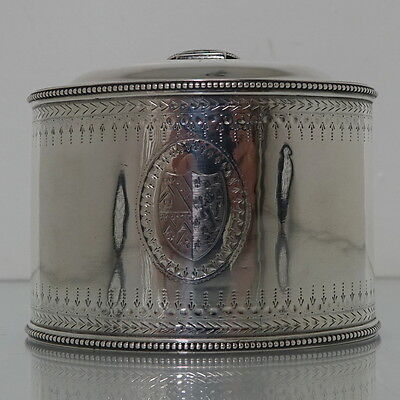 18th Century George III Sterling Silver Antique Tea Caddy London 1784 Fogelberg