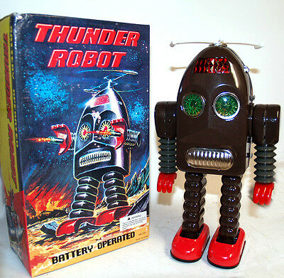 Thunder Robot Tin Toy Battery Operated