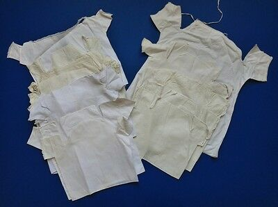 Twelve Victorian Baby Vests Or Shirts Some With Lace Edging