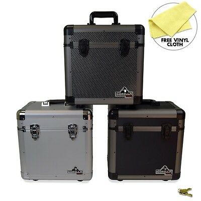 "Gorilla LP60 12"" LP Vinyl Record Storage Case - Holds 60 - 3 Colours Available"