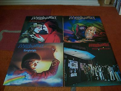 "MARILLION 4 X 12"" single`s  assassing, market square heroes, kayleigh, etc LOT"