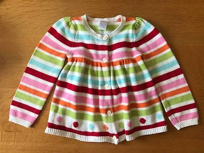 Gymboree Girls Size 4T Multi-Colored Cardigan Button Down Sweater Free Ship Usa