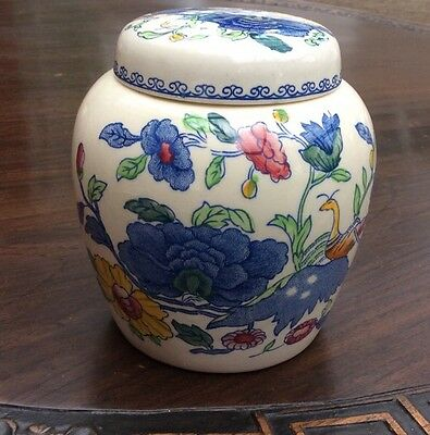 MASONS REGENCY Ironstone  Ginger Jar with Lid. Unused 10cm X 10.5cm Overall.