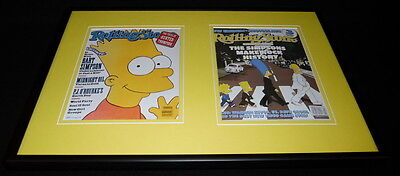 The Simpsons Framed 12x18 Rolling Stone Cover Display