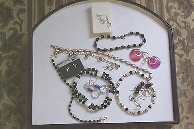 Wholesale Lot of Assorted Sterling Silver Jewelry with Stones Over 65 Grams