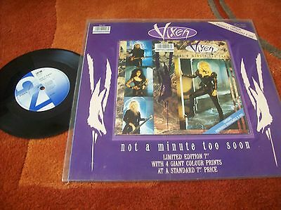 """VIXEN - not a minute too soon  7"""" single 1990 limited edition"""