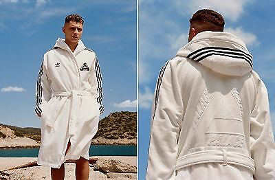 Palace x Adidas - Peignoir Bathrobe White Black M/L Medium/Large