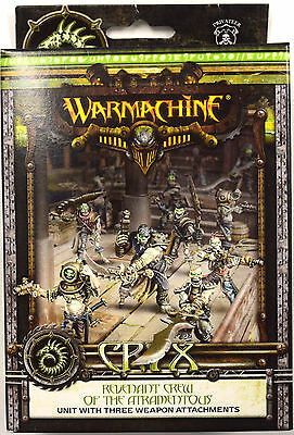 Warmachine Cryx Revenant Crew o/t Atramentous w/ Weapon Attachments PIP 34119