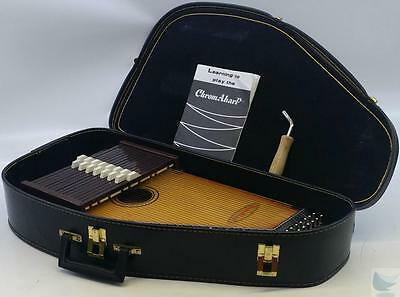 ChromAharp Autoharp 36 String 15 Cord, Case, Tuning Key & Book PLAYS VERY WELL!