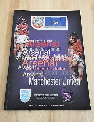 1998 Charity Shield Wembley Stadium Arsenal v Manchester United Programme