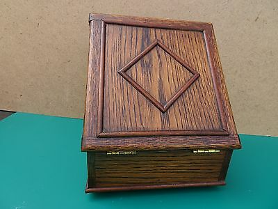Great Small portable antique USA purchased writing box