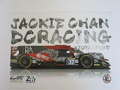 Carte Card J CHAN DC Racing Oreca #37 signed all drivers 24 h Le Mans 2017 LM