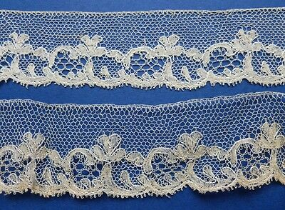 5.20 METRES OF UNUSED 19th CENTURY HAND MADE BUCKS POINT LACE IN FOUR PIECES