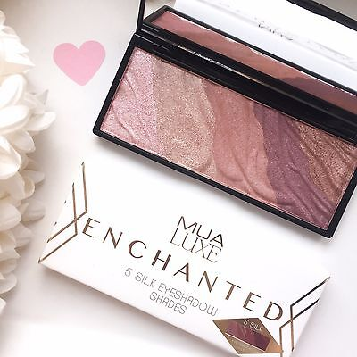 MUA Luxe Enchanted Silk Eyeshadow Palette 5 Blended Shades Bnib Sealed Authentic