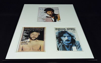 Eric Clapton 16x20 Framed Rolling Stone Cover Display